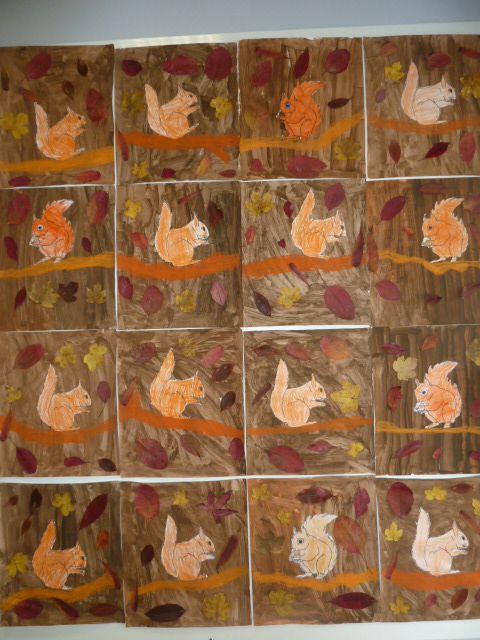 Ecureuils d'automne en GS-CP