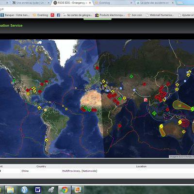 Tous les soucis de la Terre en temps réel!
