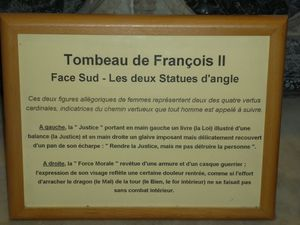 La Cathédrale - Le tombeau de François II - La Psalette -