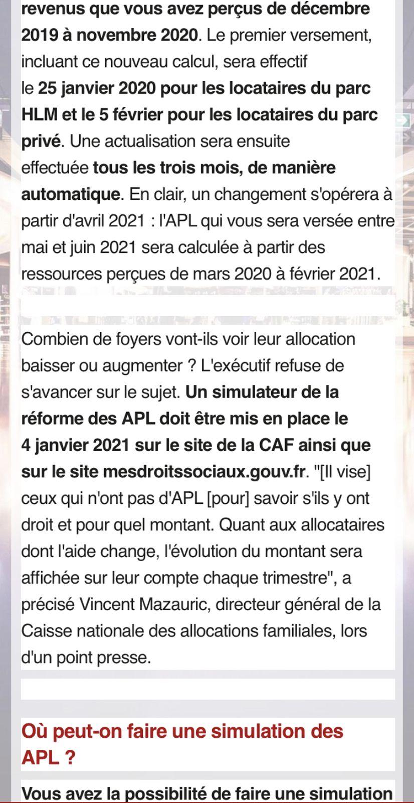 APL: simulation,étudiant conditions Tout savoir pour 2021