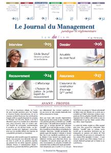 Parution de notre article ''l'intensification de la lutte contre la fraude fiscale'' dans le numéro 39 du Journal du management juridique