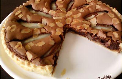 Tarte Moelleuse au chocolat et aux poires (tartes facile)