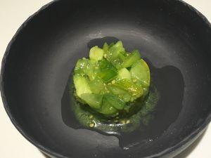 Tartare de green zebra, soupe tomates ananas, sorbet coeur de boeuf d'E. Fréchon