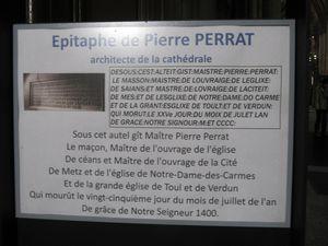 Epitaphe Pierre Perrat. Cathédrale de Metz.
