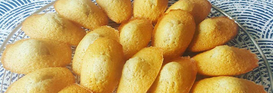Madeleines parfumées au sucre myrtille au Kitchenaid