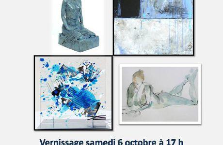 Exposition  en octobre 2018 à la GALERIE MAUVE  thème Bleu nu