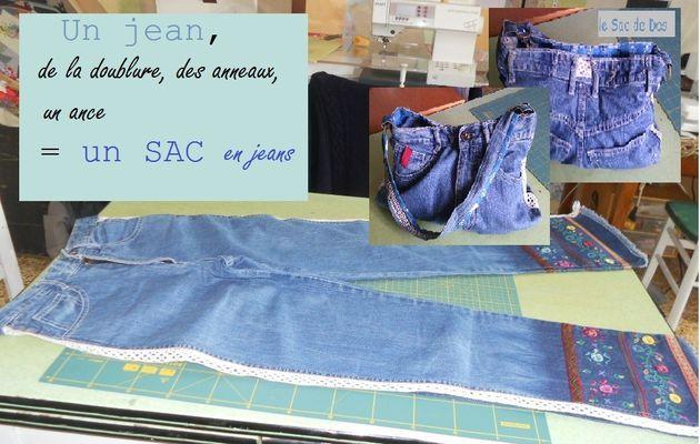 Diy/tuto : sac en Jean, doublé et poches intérieur.