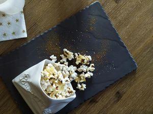 Popcorn / piment d'Espelette et parmesan - pour un apéro gourmand, facile et rapide !