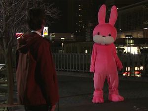 Shinigami pink rabbits can be cute too, you know