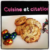 Mes cookies avoine sans oeufs au chocolat... on recycle le chocolat de pâques ! - Le blog de cuisineetcitations-leblog