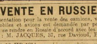 Affaire Seznec. Les petites annonces de L'Auto au printemps 1923...
