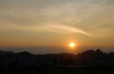 Le soleil se couche à Aomori - Ile Honshun Japon