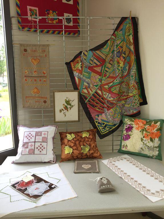Exposition du 25 mai 2019 association Loisirs Créatifs Martignas (thème : oiseaux, papillons et insectes)
