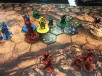Jour 1 : Le seul jeu manquant ici est Orcquest premier jeu essayé, avec une bonne surprise Skyjo, un petit jeu de carte sympathique