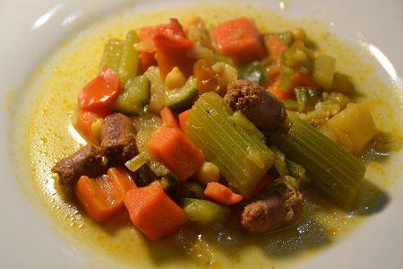 Couscous  légumes merguez express au  cookeo