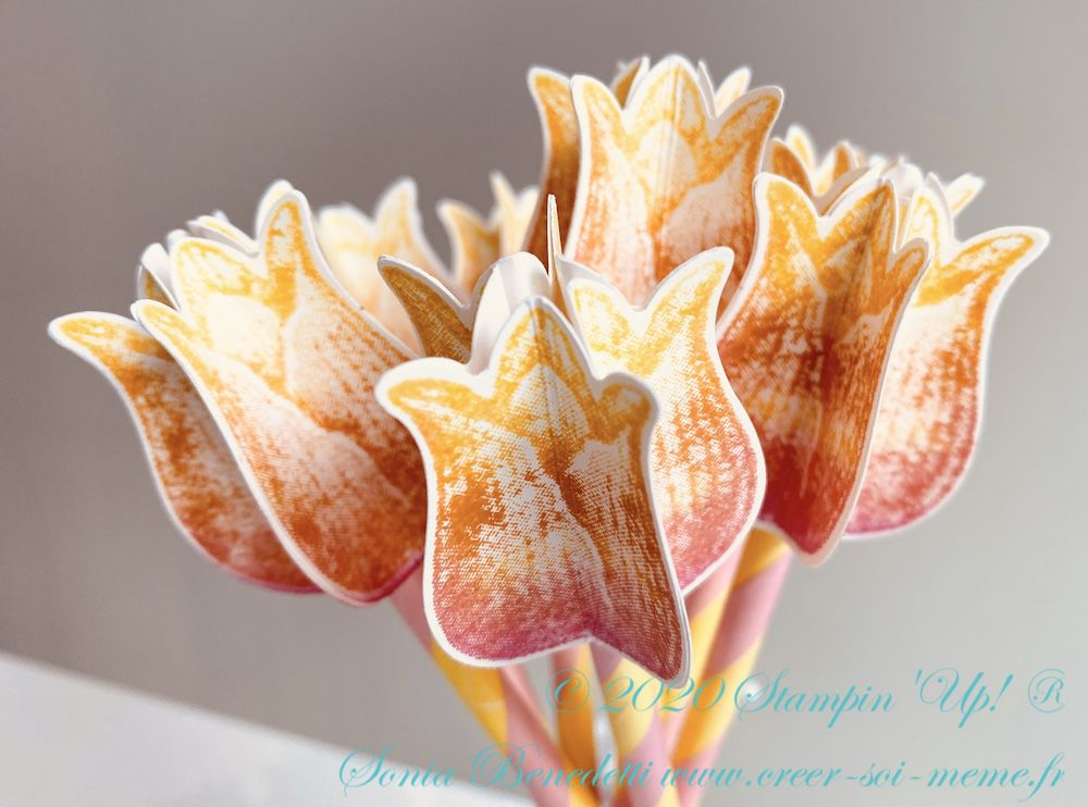 Tulipes intemporelles, bouquet éternel avec perforatrice stampinup