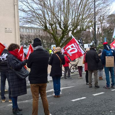 Manif Education Nationale Laon 26 01 2021