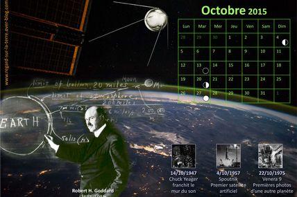 Le calendrier spatial et astronomique pour octobre 2015 : De Peenemünde à Cap Canaveral en passant par White Sands et Baikonour…