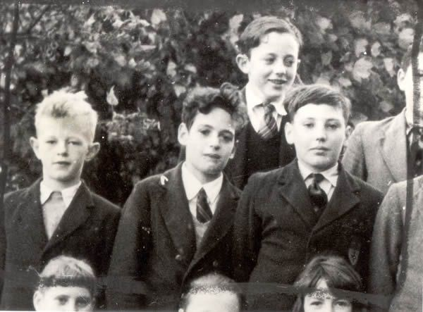 Peter Sutcliffe (left) at Cathingley Manor Secondary School aged 12