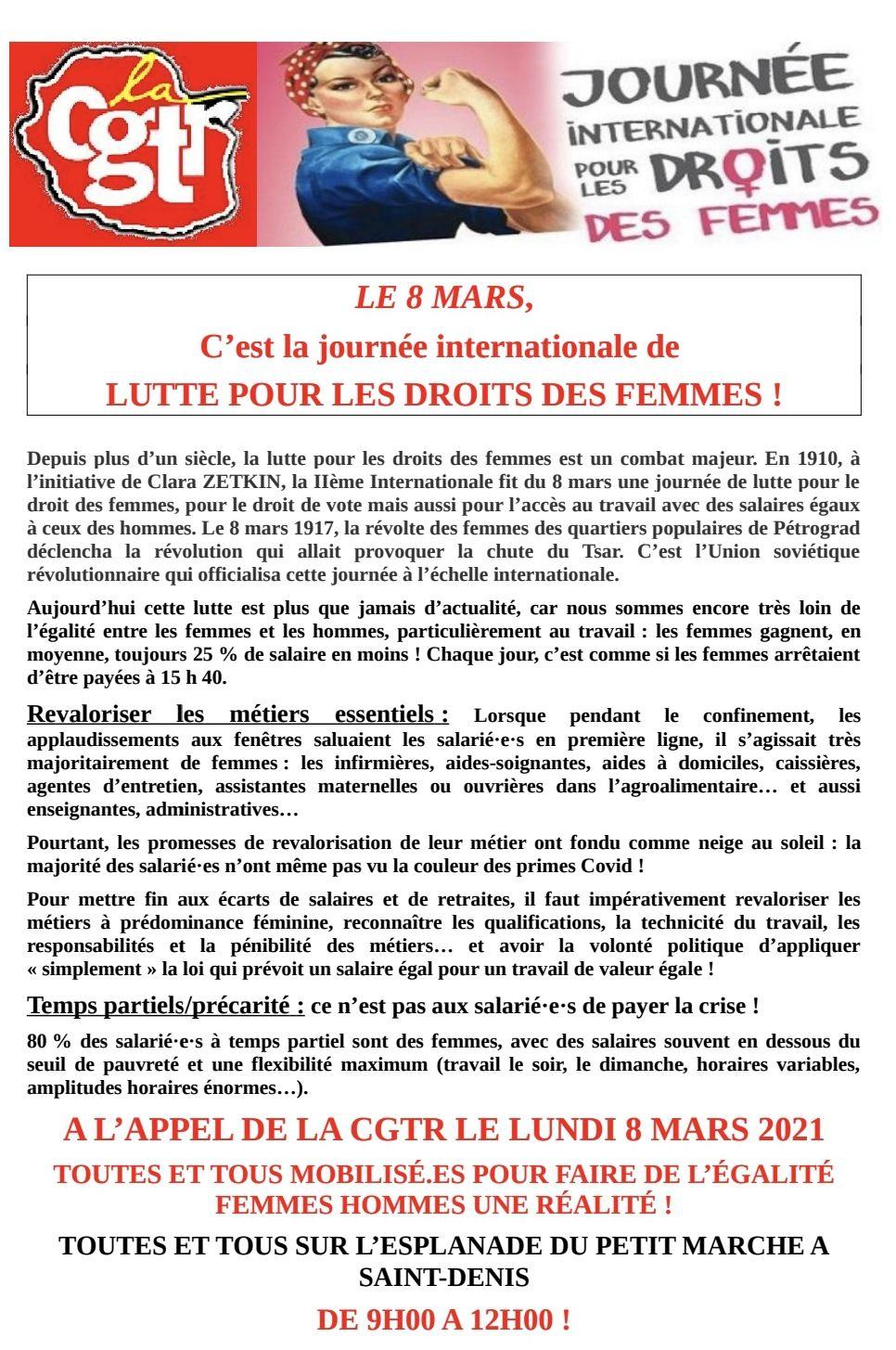 Mobilisation du 8 mars