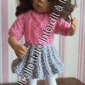 tuto gratuit poupée : pull duveteux rose bonbon - Chez Laramicelle