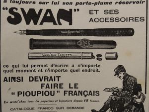 Annonces Stylo Swan, Illustration 13-11-1915, Cl. Elisabeth Poulain