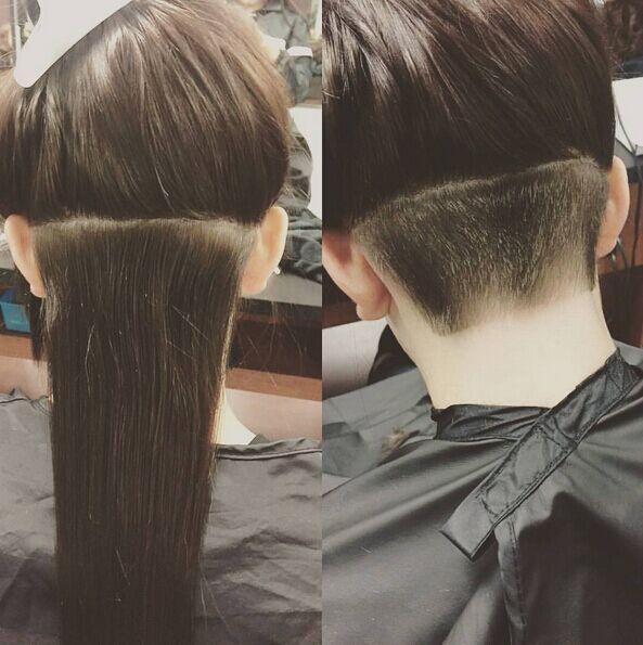 Sur cheveux longs on peut faire simple!!!!!!!!