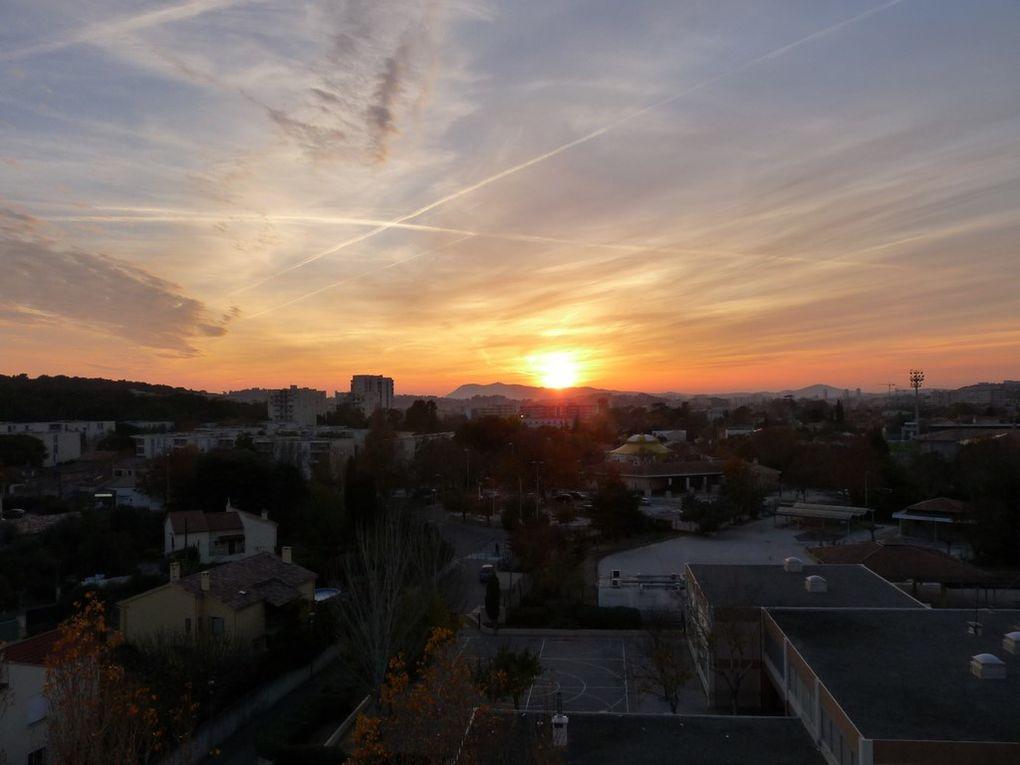 Coucher du soleil sur Toulon le 04 décembre 2015