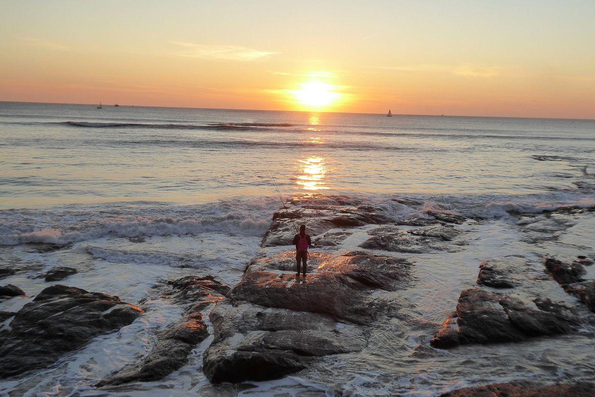 Coucher de soleil de Novembre sur les Sables d'Olonne