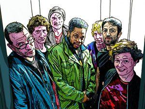 anarchist republic of bzzz, l'improbable réunion des deux guitaristes marc ribot, arto lindsay mike ladd et sensational