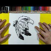 Como dibujar un aguila 🦅 paso a paso 10 | How to draw an eagle 🦅 10