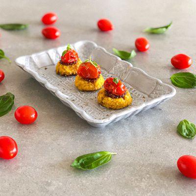 Tartelettes Polenta Tomates cerises sans gluten - pour 4 personnes