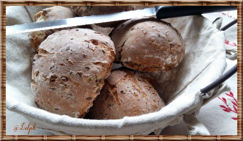 Petits pains aux graines de lin au thermomix