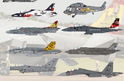 Air-Graphics Models (UK) - Various special marking World Air Forces - Part 3