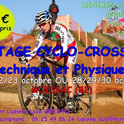 STAGES CYCLO CROSS OCTOBRE