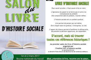 Premier salon du livre d'histoire sociale ! 1er et 2 mars 2017 !