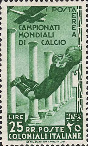 Fig.15 à 20: émission des Colonies générales italiennes pour la poste aérienne
