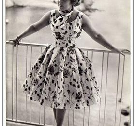 The dress of the Fifties ...