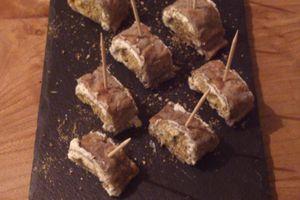 Roulés de sarrasin au chèvre frais