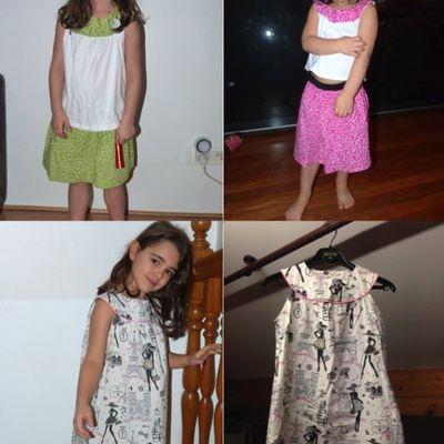 Mes créations couture: robes fillettes (été 2015)