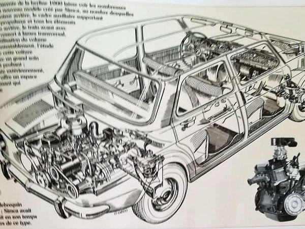 Ecorché technique - Compartiment moteur à l'arrière - Carcatéristiques