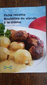 boulettes de viande a la crème comme chez  IKEA