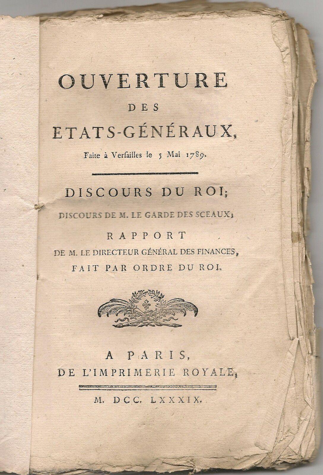 Quand le Roi demandait l'abolition de la traite aux Etats-Généraux, le 5 mai 1789.