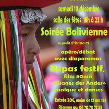 Soirée bolivienne à Bugeat