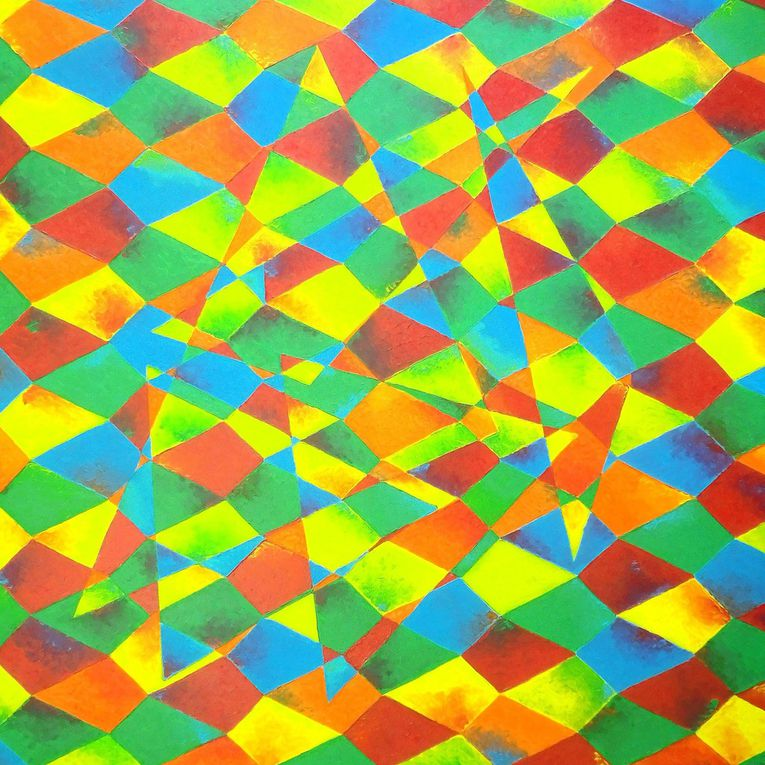 Summer Abstraction - Acrylic on canvas