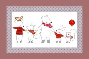 Broderie Amis animaux 2