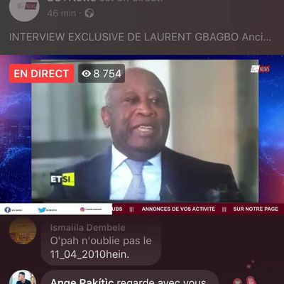 IVORY COAST : LAURENT GBAGBO SPEAKS FOR THE FIRST TIME SINCE HIS ARREST ON THE 11 APRIL 2011 AND HIS AQUITTAL ON 15 JANUARY 2019