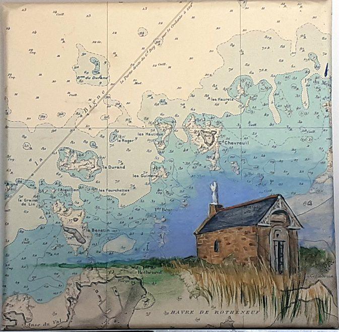 Tableaux sur cartes marines.