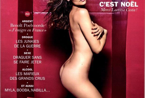 La comédienne Laetitia Casta pose nue pour le magazine Lui.