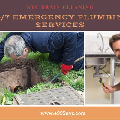 24/ 7 Emergency Plumbing Services for Drain Cleaning in New York